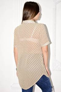 Рубашка прозрачная с коротким рукавом С0123