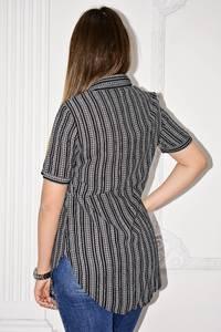 Рубашка в полоску с коротким рукавом С0126