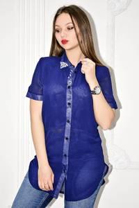 Рубашка прозрачная с коротким рукавом С0135