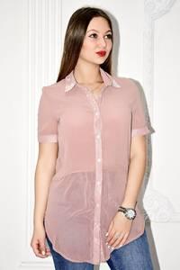 Рубашка прозрачная с коротким рукавом С0136