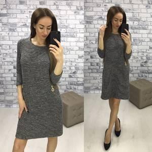 Платье короткое классическое трикотажное Р1862