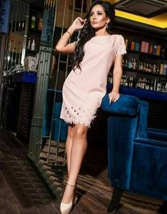 Платье вечернее однотонное короткое Т6900
