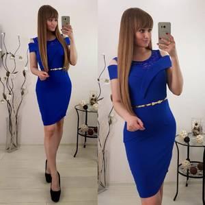 Платье короткое вечернее облегающее С8037