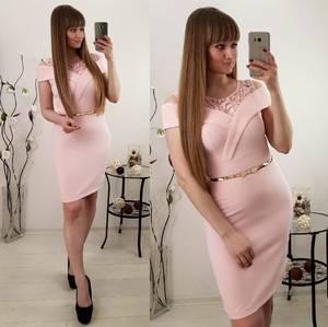 Платье короткое вечернее облегающее С8039