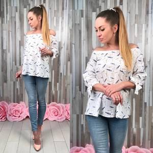 Блуза летняя с длинным рукавом С8353