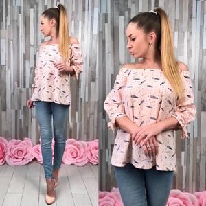 Блуза летняя с длинным рукавом С8354
