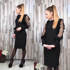 Платье короткое футляр классическое С8647