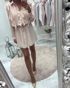 Платье короткое нарядное с длинным рукавом С8553