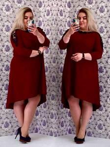Платье короткое вечернее с рукавом 3/4 С8564