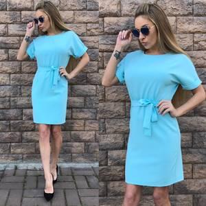 Платье короткое однотонное классическое С9566