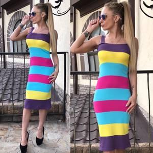 Платье короткое без рукавов летнее С9394