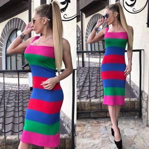 Платье короткое без рукавов летнее С9399
