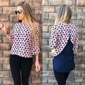 Блуза розовая для офиса Т0554