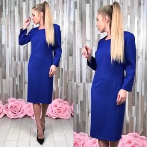 Платье короткое вечернее синее С7529