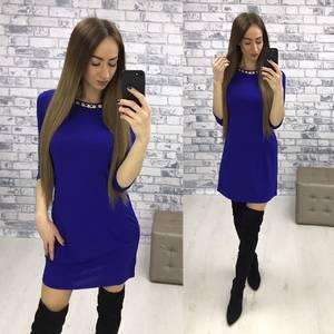Платье короткое классическое однотонное Р2575