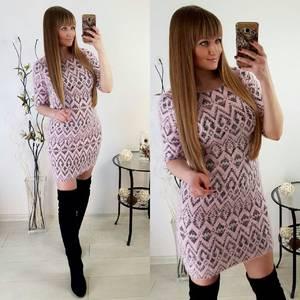 Платье короткое трикотажное нарядное Р2016