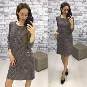 Платье короткое классическое трикотажное Р1864