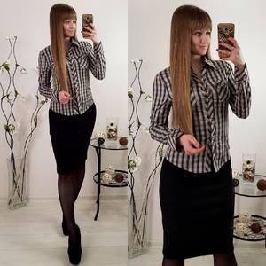 Рубашка в полоску с длинным рукавом Р6627