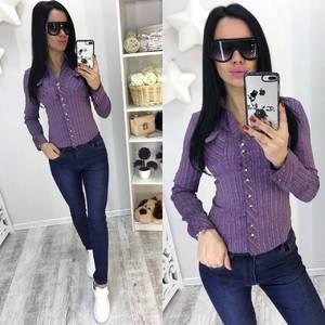 Рубашка в полоску с длинным рукавом Р8683
