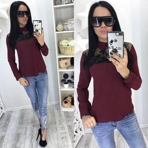 Блуза красная с длинным рукавом Р8449