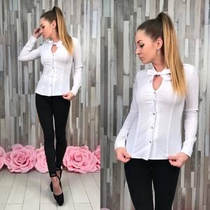 Рубашка белая прозрачная с длинным рукавом Р9137