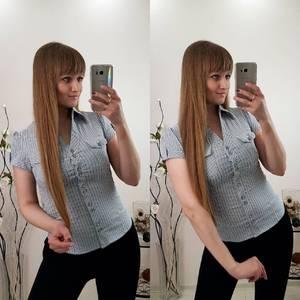 Рубашка в полоску с длинным рукавом Р9602