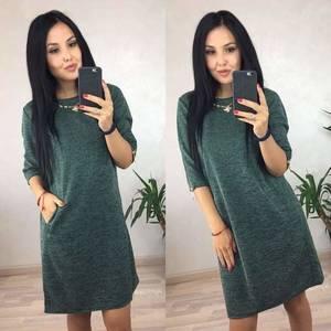 Платье классическое короткое с рукавом 3/4 С0382
