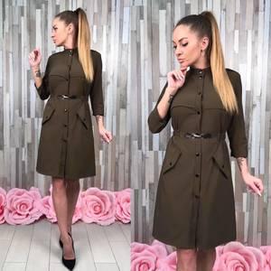 Платье классическое короткое с рукавом 3/4 С0376