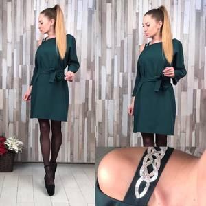 Платье нарядное классическое короткое С0380