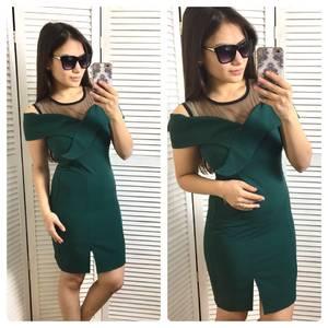 Платье короткое футляр облегающее С0588