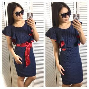 Платье футляр нарядное короткое С0615