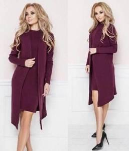 Платье Двойка короткое классическое облегающее С0659