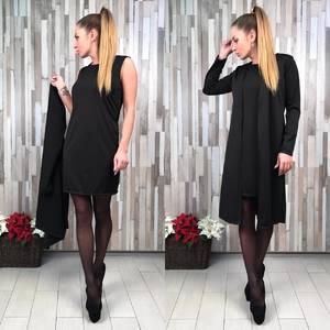 Платье Двойка короткое классическое облегающее С0656
