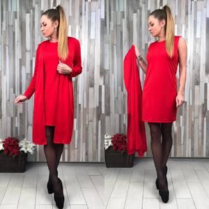 Платье Двойка короткое классическое облегающее С0657