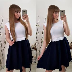 Платье короткое классическое С0772