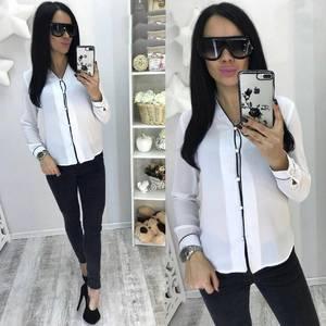 Рубашка белая прозрачная с длинным рукавом С7753
