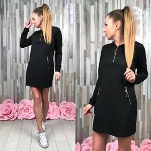 Платье короткое с длинным рукавом С7739