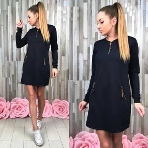 Платье короткое с длинным рукавом С7740