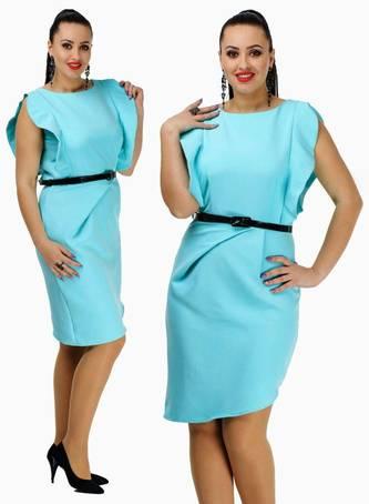 Платье короткое футляр однотонное С7686