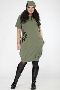 Платье короткое трикотажное С7690