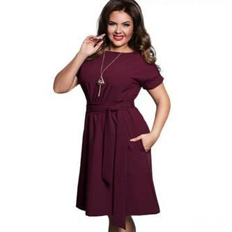 Платье короткое нарядное красное С7683