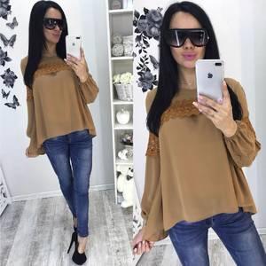 Блуза для офиса с длинным рукавом С7930