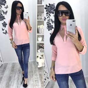 Блуза розовая с длинным рукавом С7932
