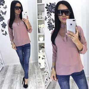 Блуза розовая для офиса С7936