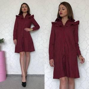 Платье короткое с длинным рукавом С7899
