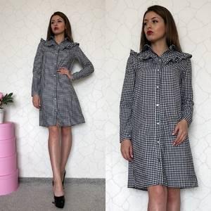 Платье короткое с длинным рукавом С7900