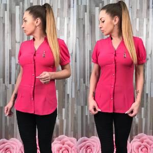 Рубашка красная с кружевом С8771