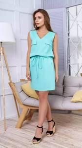 Платье короткое повседневное без рукавов Т1638