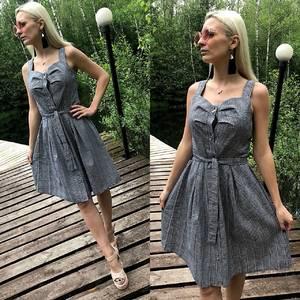 Платье короткое повседневное без рукавов Т1647