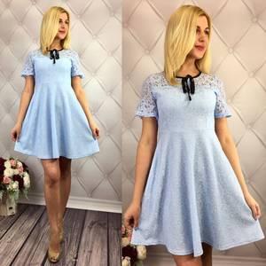 Платье короткое коктейльное элегантное Т1635